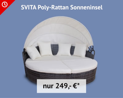 SVITA Poly-Rattan Sonneninsel