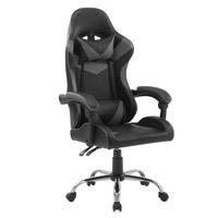 92121 SVITA Gaming Stuhl mit Lendenwirbelstütze Grau Schwarz