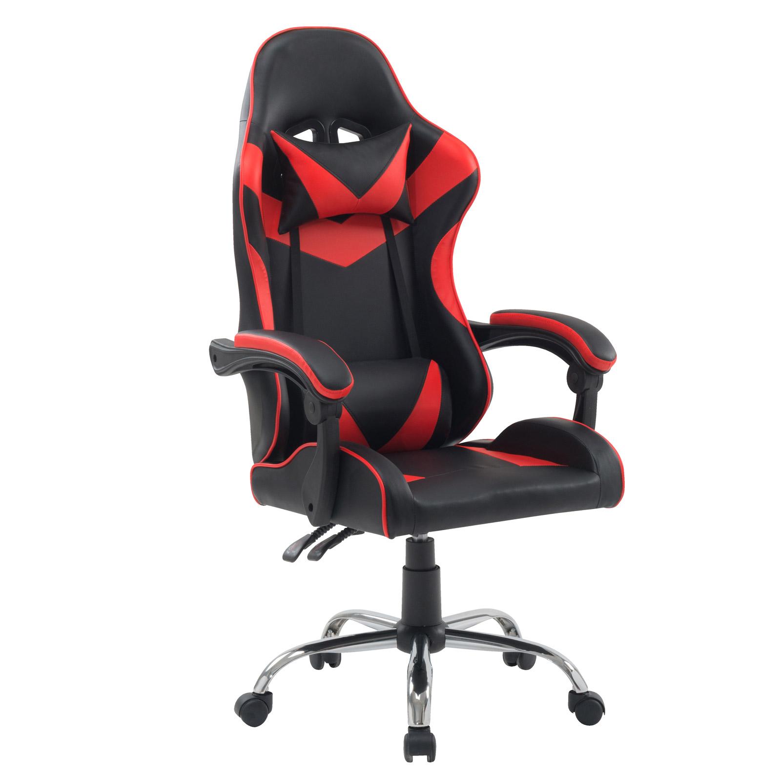 92122 SVITA Gaming Stuhl mit Lendenwirbelstütze Rot Schwarz