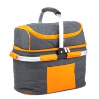 94120 SVITA Picknickkorb Einkaufskorb mit Kühlfunktion 25l Grau