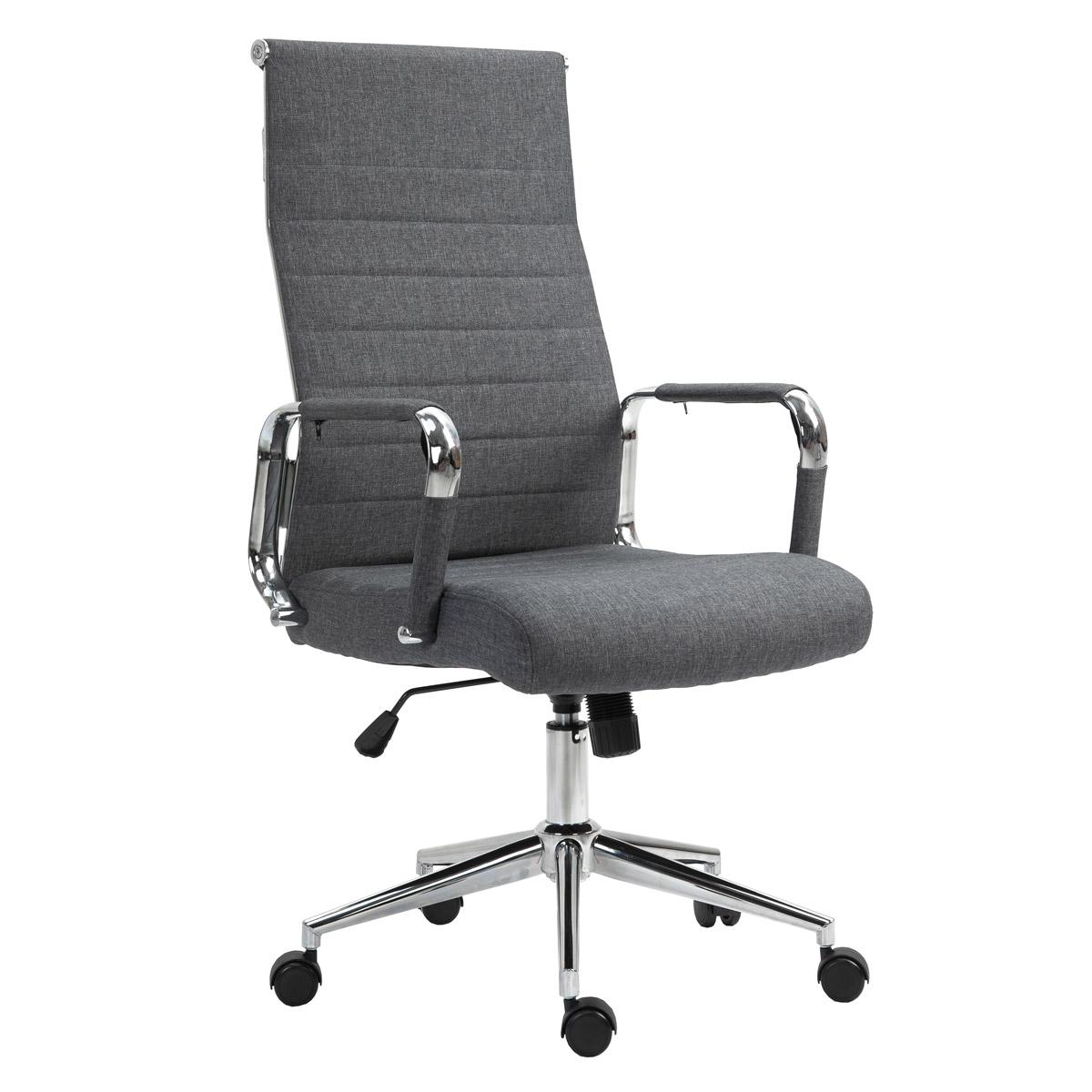 90517 SVITA Elegance Comfort Bürostuhl Stoff dunkelgrau