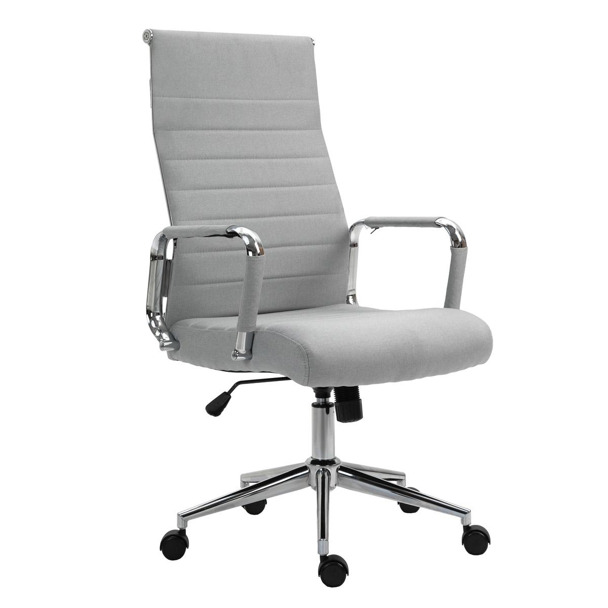 90518 SVITA Elegance Comfort Bürostuhl Stoff hellgrau
