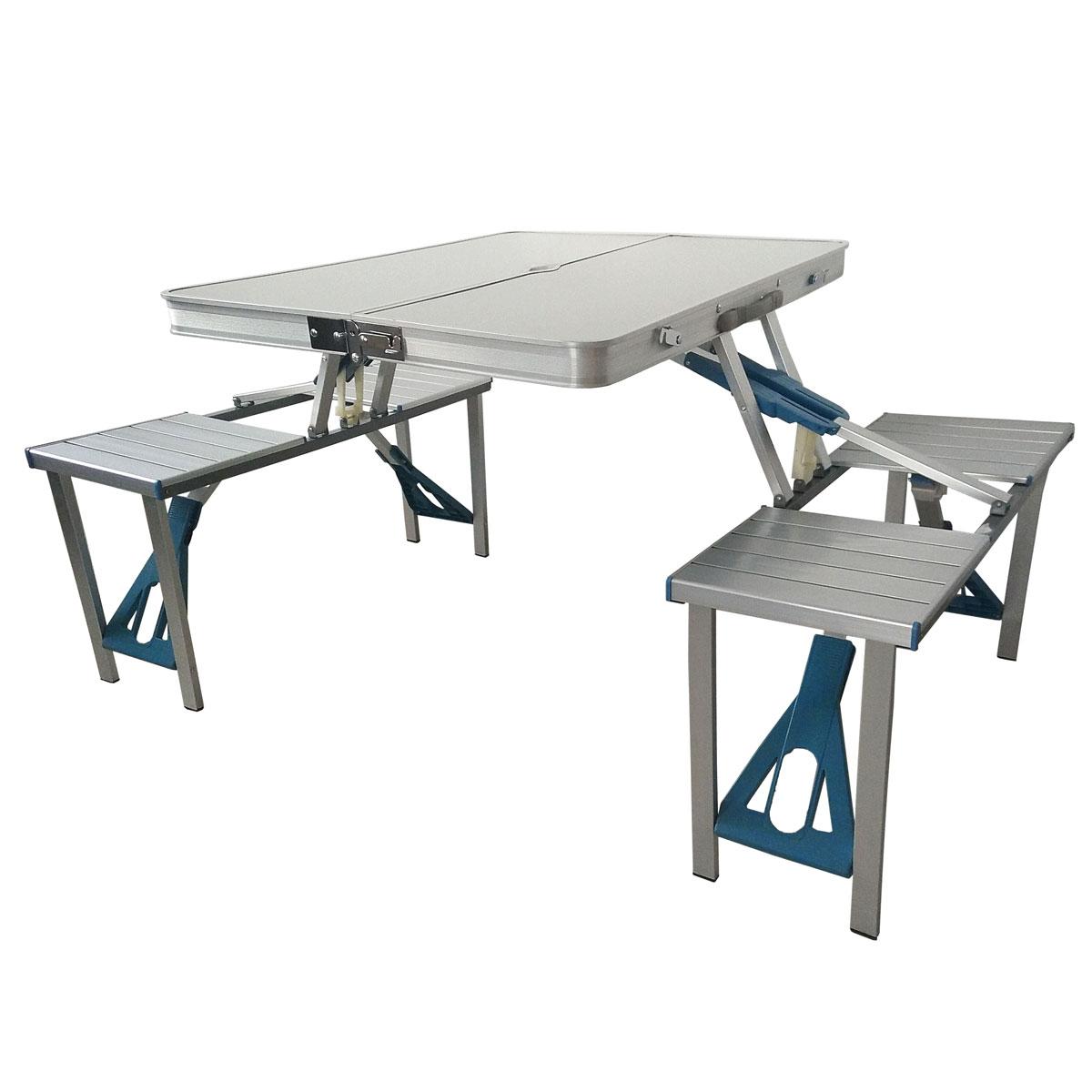 90756 Camping Set Tisch + Hocker Koffer