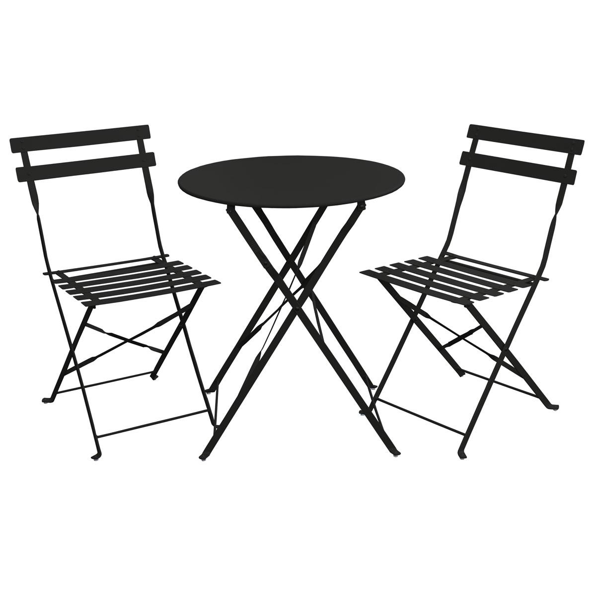 svita balkonm bel bistroset stuhl tisch klappbar bistro cafe metall gartenset ebay. Black Bedroom Furniture Sets. Home Design Ideas