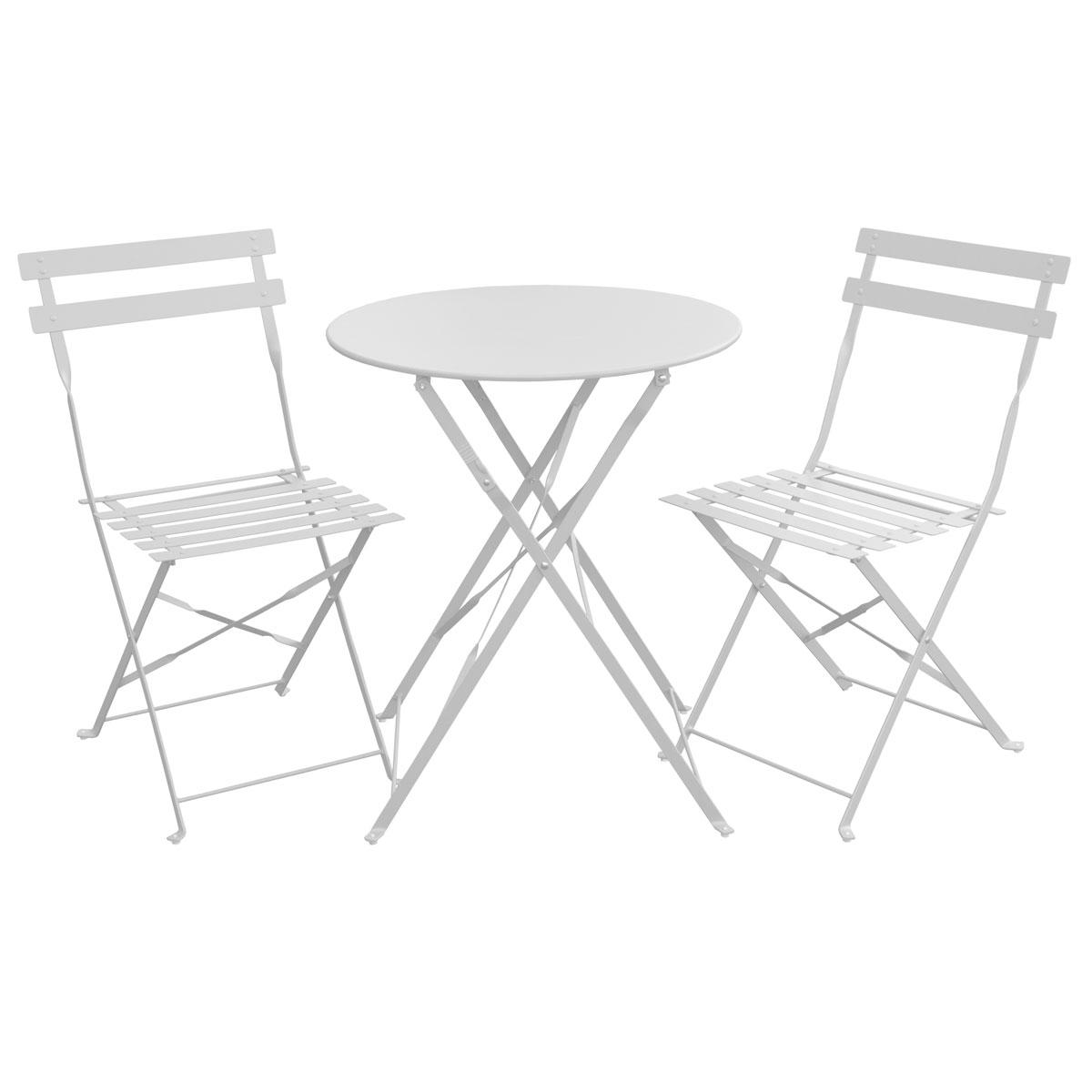 90741 Bistro-Set Weiß (90751)