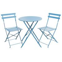 90743 Bistro-Set blau (90753)
