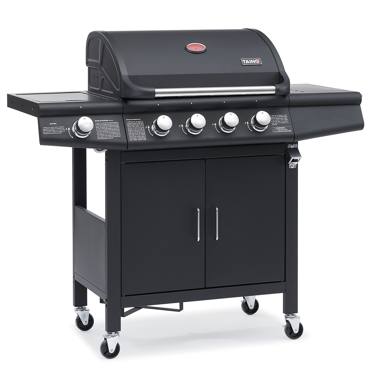 93511 TAINO RED 4+1 Gasgrill schwarz