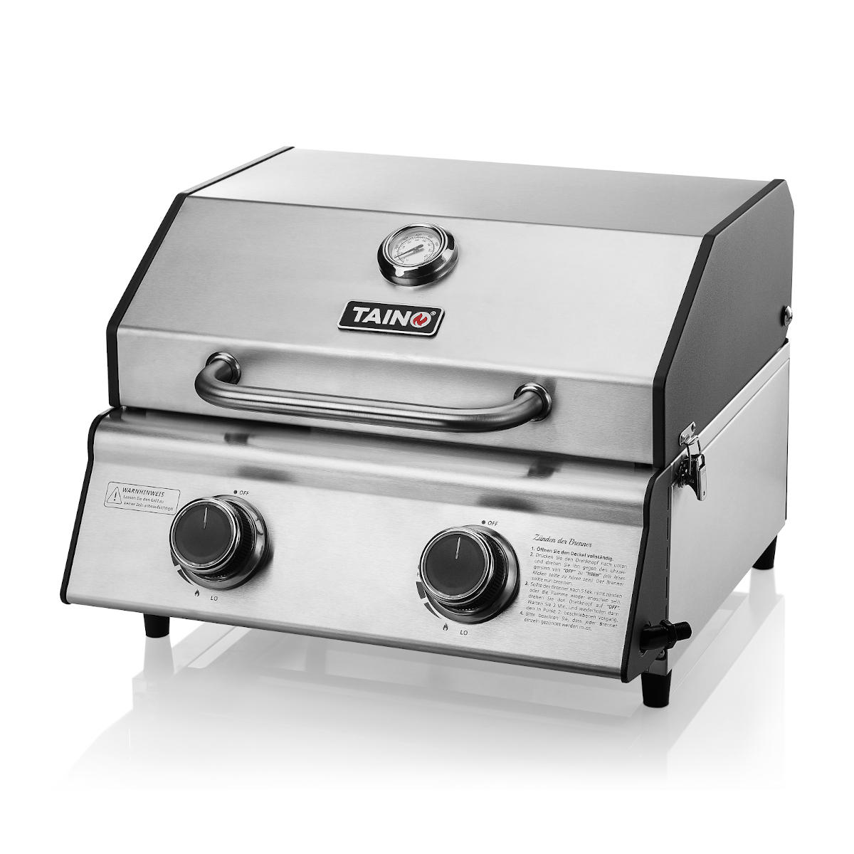 93512 TAINO COMPACT 2.0 S Tischgrill mit 2 Brenner Gasgrill
