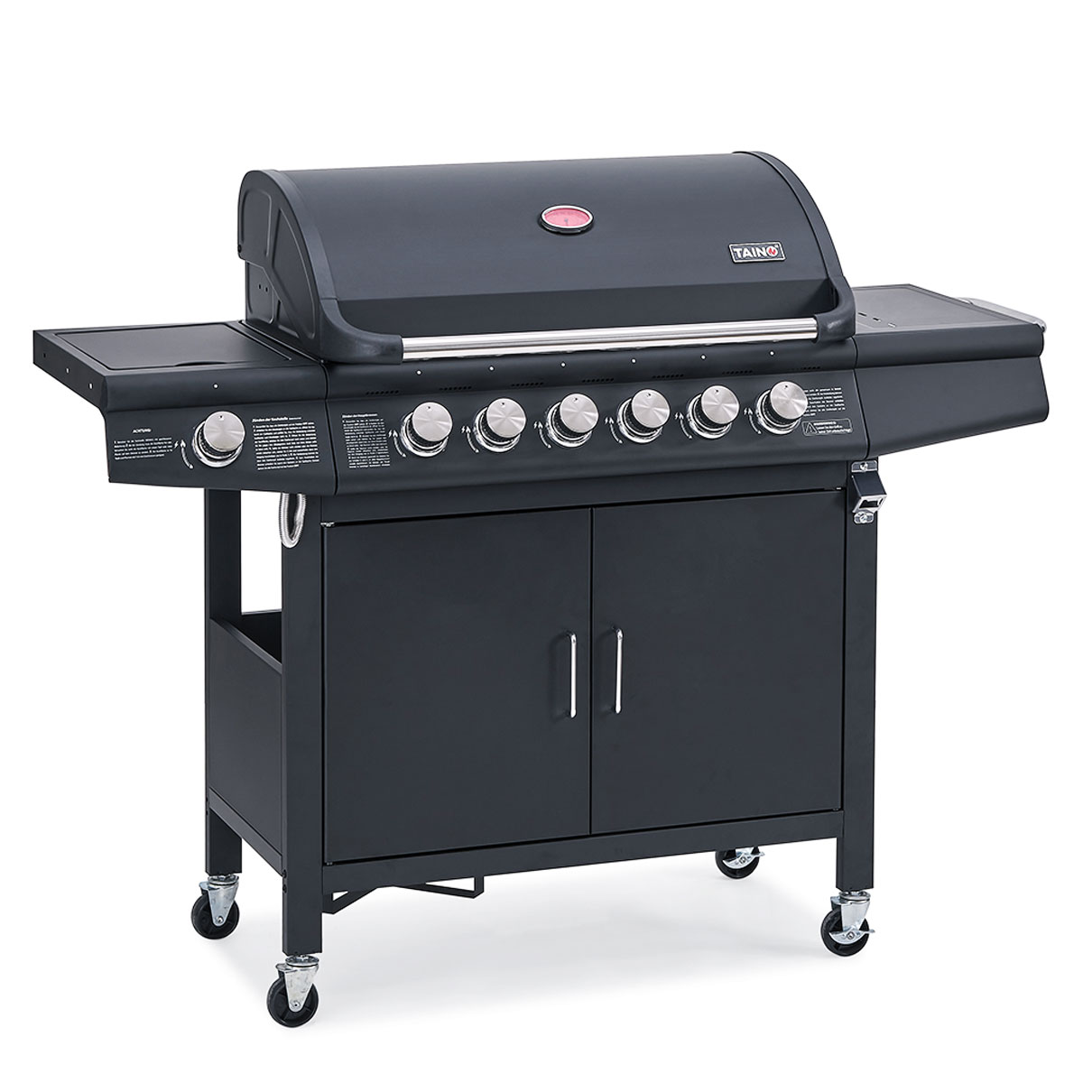 93516 TAINO RED 6+1 Gasgrill schwarz