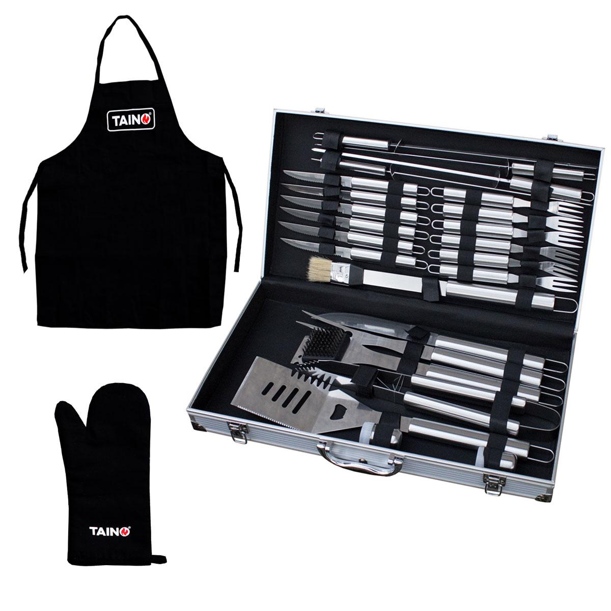 Set Handschuh+Schürze+90475 Grillkoffer (90477)