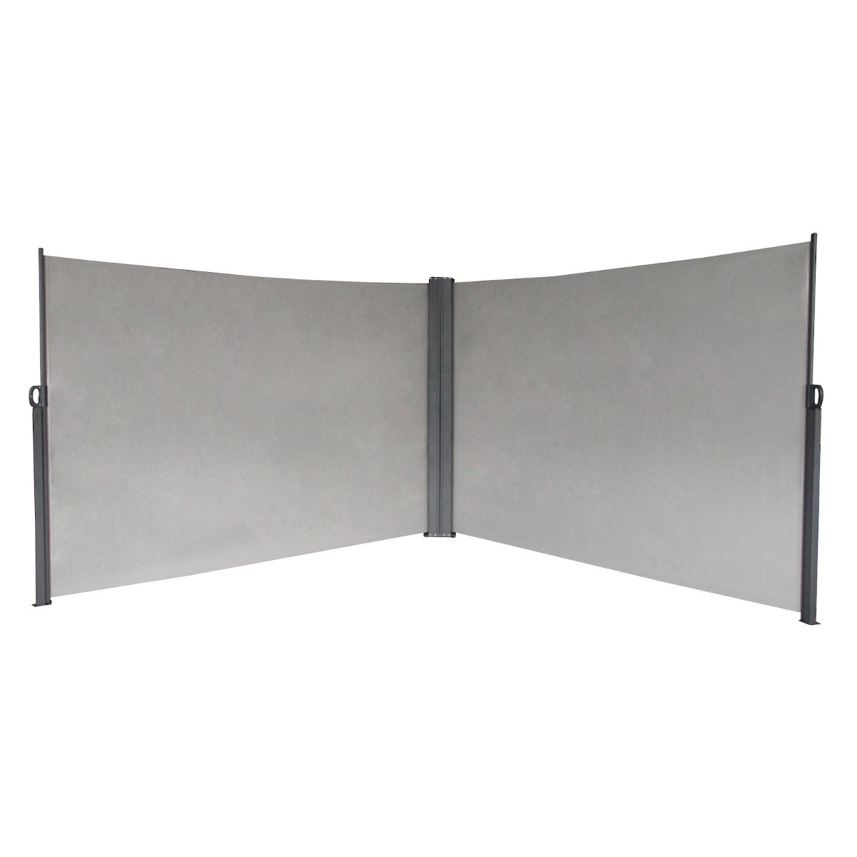 91056 SVITA Doppel Seitenmarkise 600 x 180 cm Hellgrau