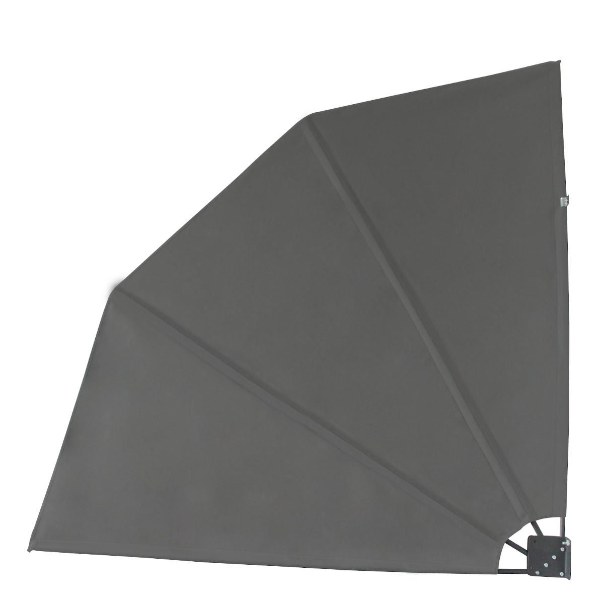 91096 SVITA Balkonfächer Seitenmarkise 160 x 160 cm Dunkelgrau