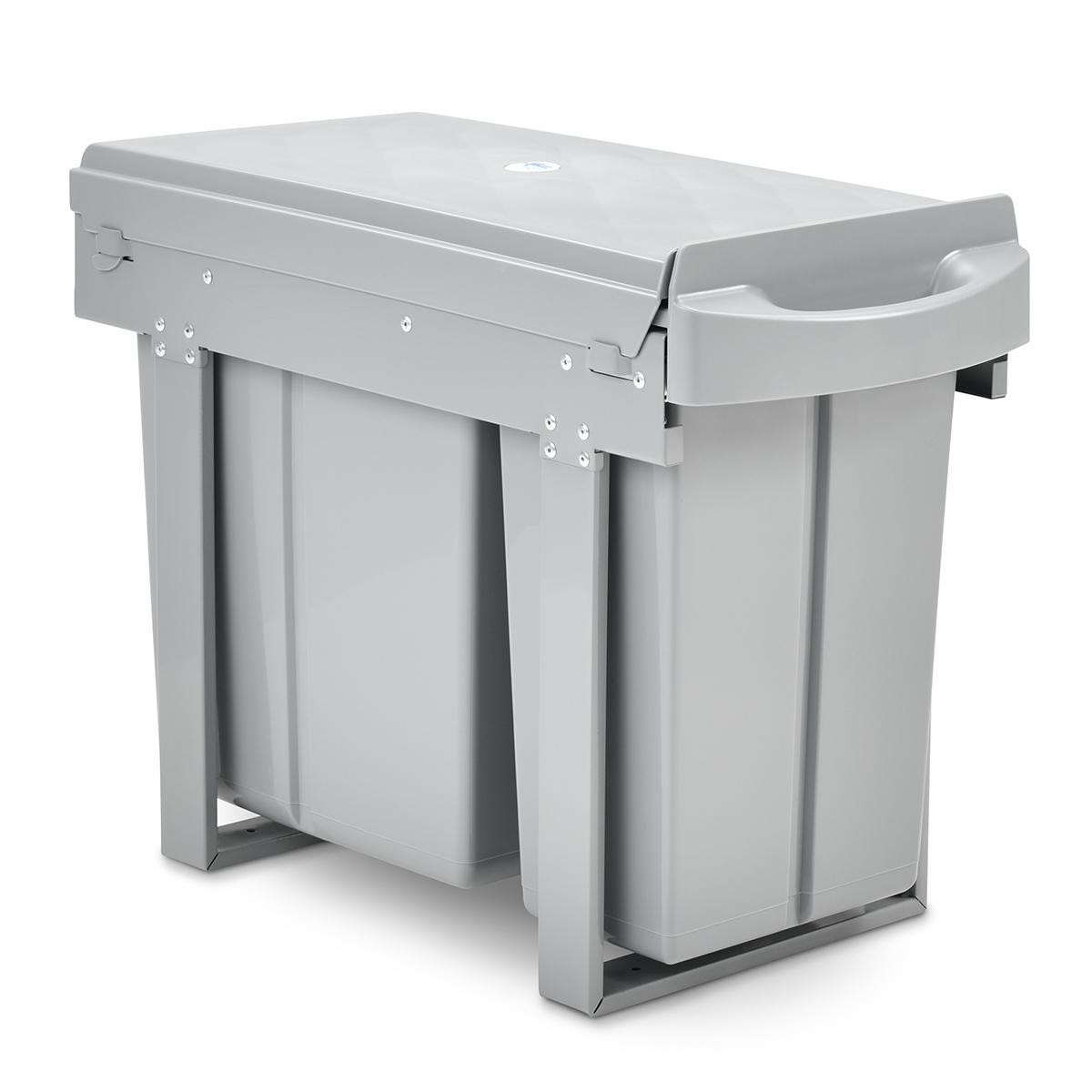 90531 SVITA Einbau-Mülleimer Unterschrank 30L mit 2 Fächern Mülltrennung