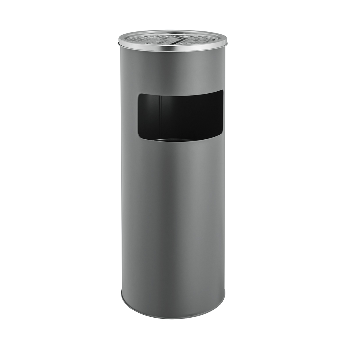 91899 Aschenbecher 30 Liter Mülleimer grau