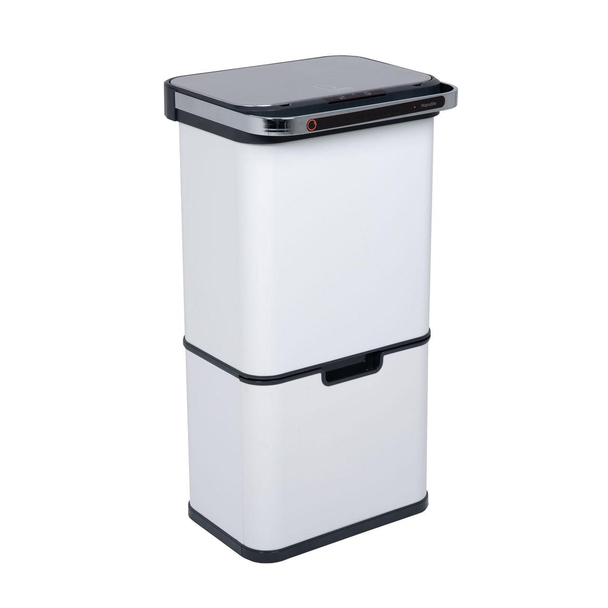 92041 SVITA Sensor-Mülleimer 60L mit Ozon-Selbstreinigung und Aktivkohle-Filter Weiß