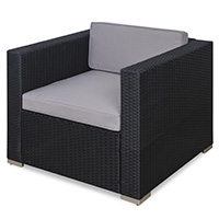 90966 SVITA Rattan-Sessel für Lugano / California schwarz