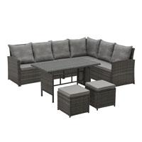 90719 SVITA Monroe Garten-Lounge Grau