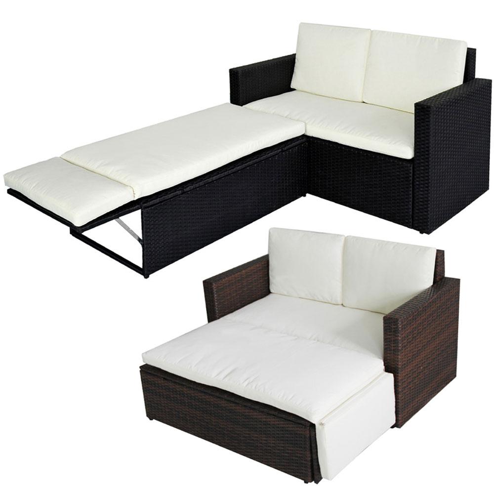 svita polyrattan gartenset sofa gartenm bel lounge garnitur couch balkon rattan ebay. Black Bedroom Furniture Sets. Home Design Ideas