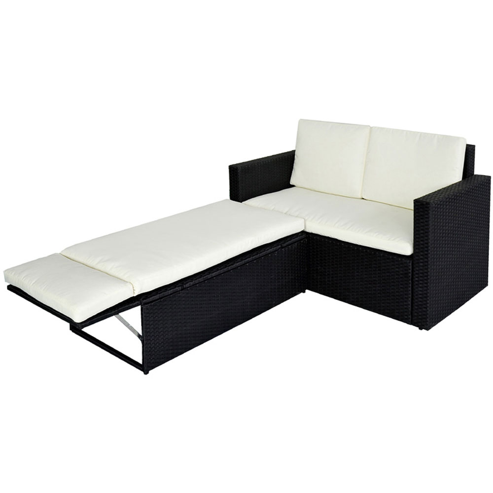 svita polyrattan gartenset sofa gartenm bel lounge garnitur couch balkon rattan ebay. Black Bedroom Furniture Sets. Home Design Ideas