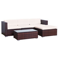 90961 SVITA CALIFORNIA Poly Rattan Lounge XL braun