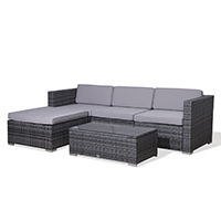 90963 SVITA CALIFORNIA Poly Rattan Lounge XL grau