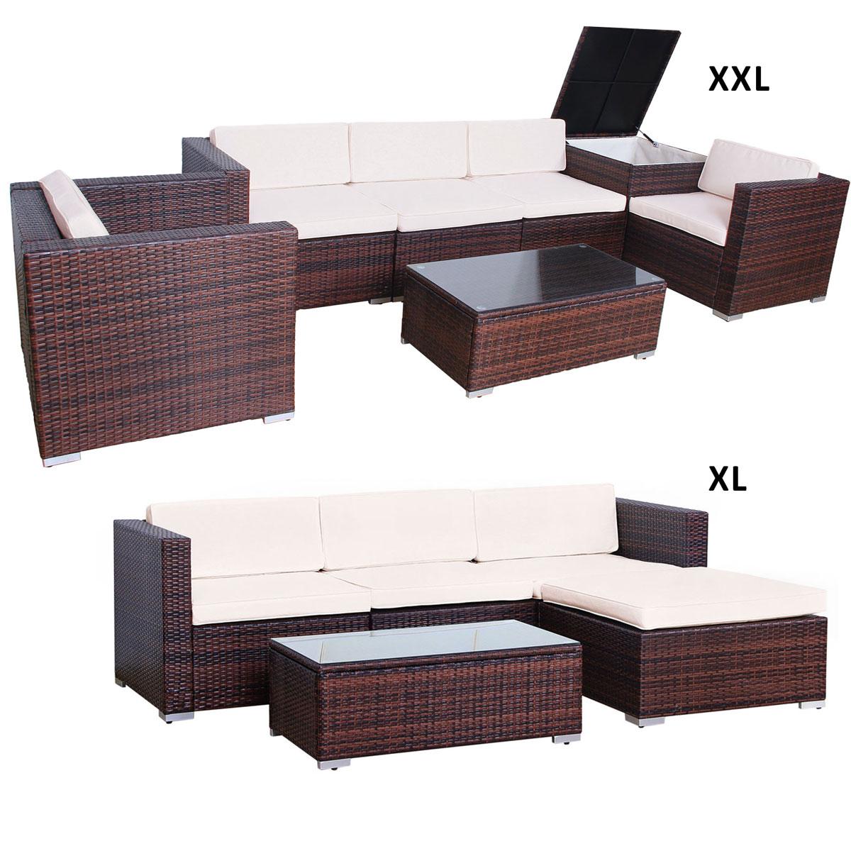 Das Bild Wird Geladen Svita Polyrattan Lounge Gartenmoebel  Set Sofa Couch Garnitur