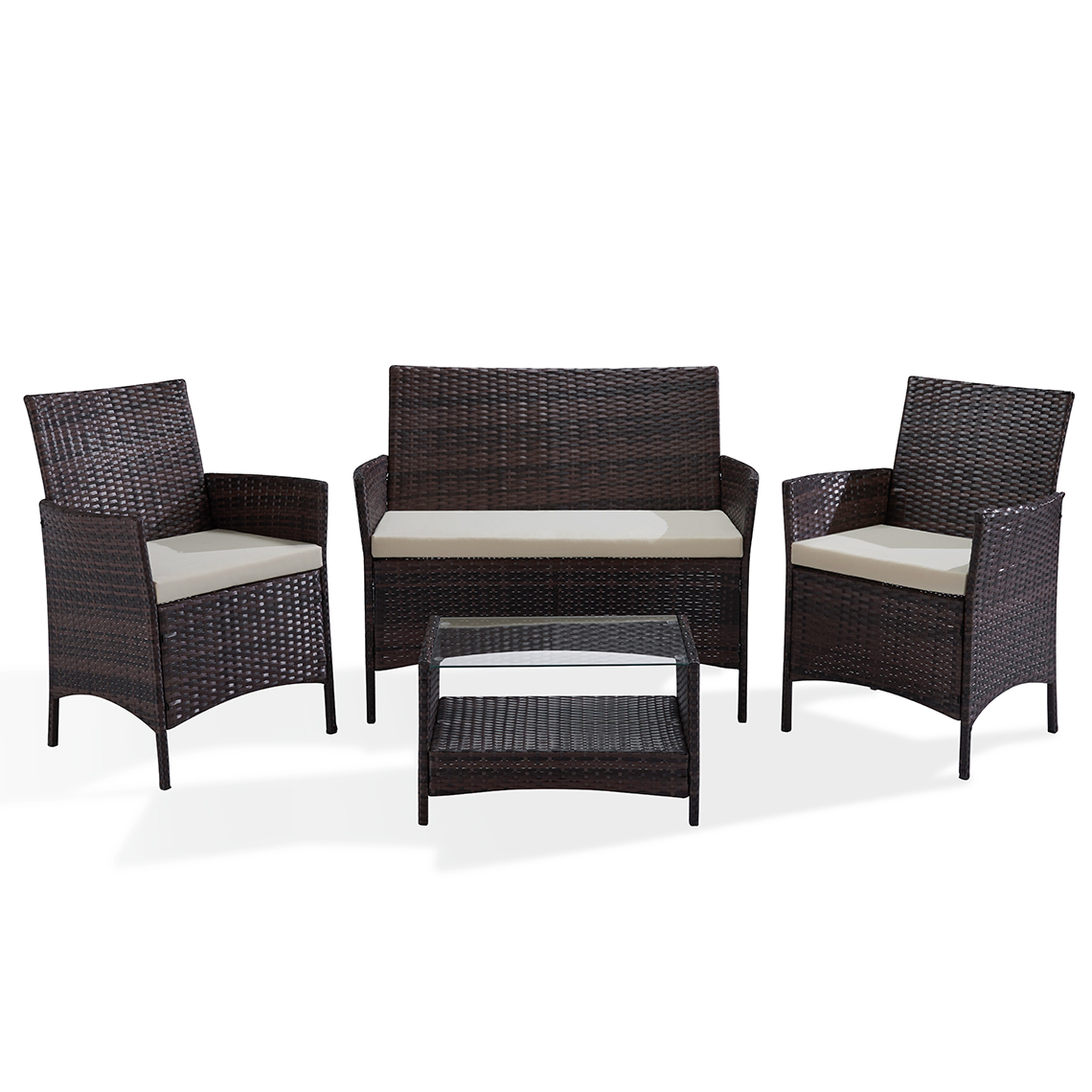 Gartenmobel Lounge Brooklyn Braun Set Lounge Polyrattan