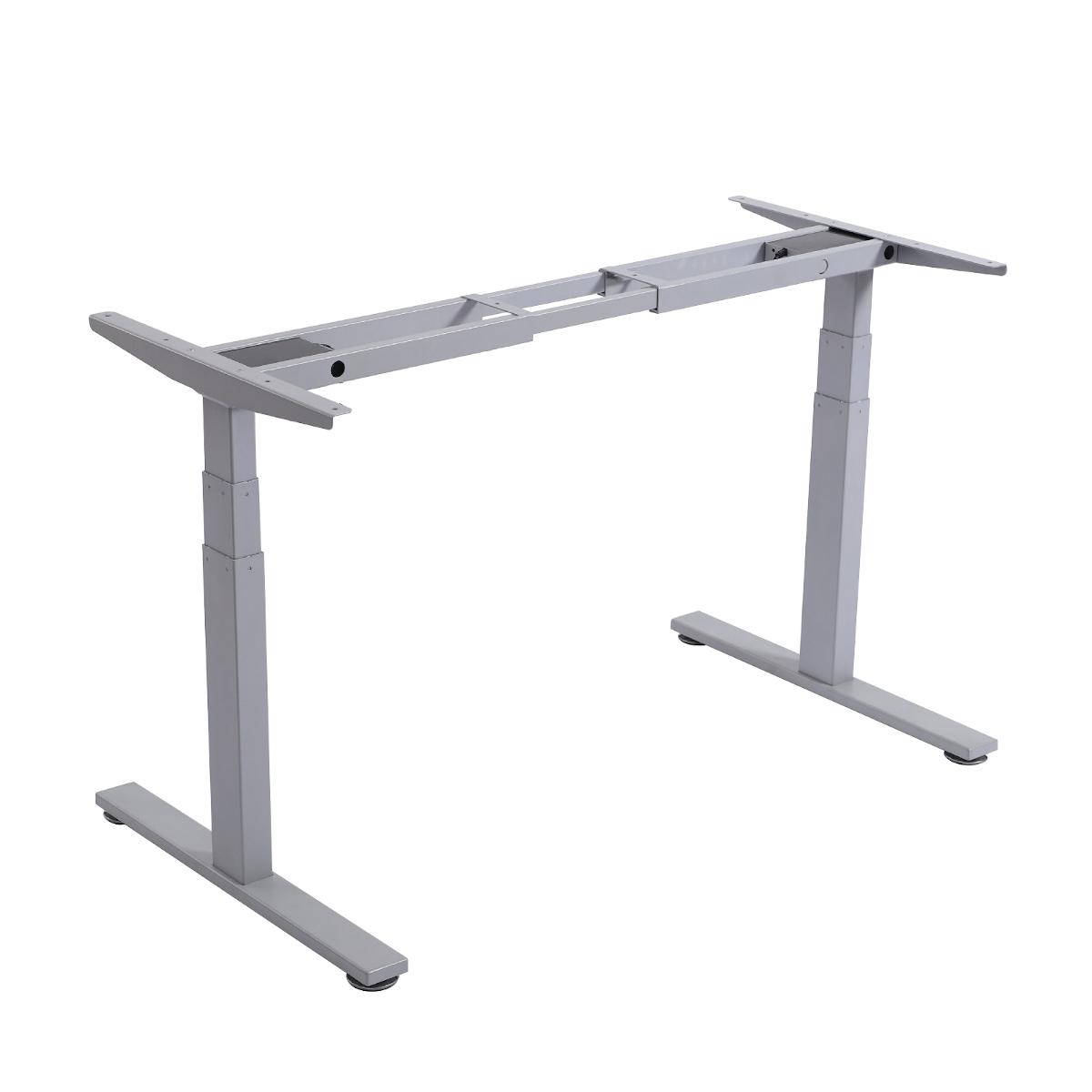 92289 SVITA höhenverstellbares Schreibtisch-Gestell 60-125 cm grau