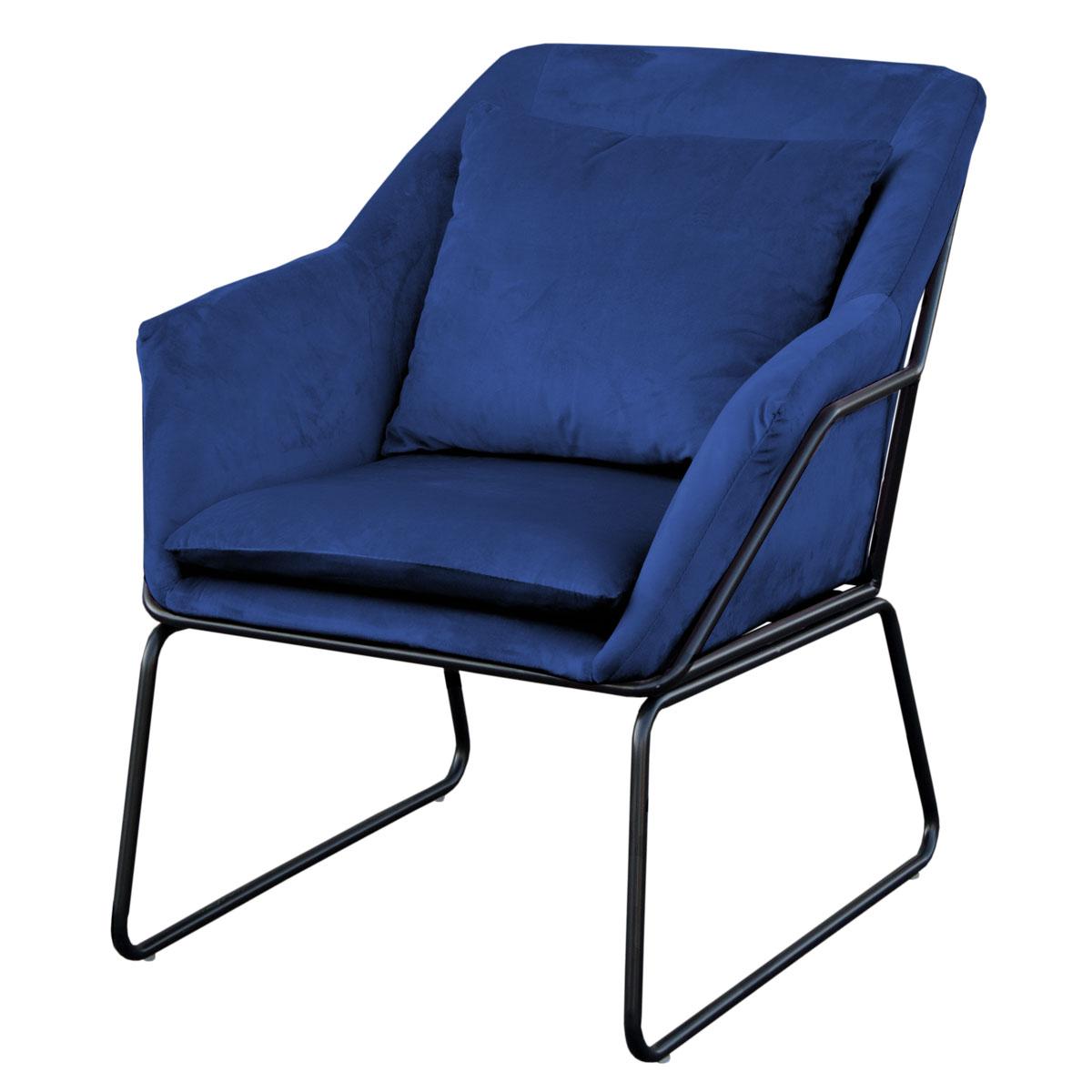 91350 SVITA JOSIE Sessel Samt blau (90350)