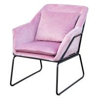91352 SVITA JOSIE Sessel Samt pink (90352)