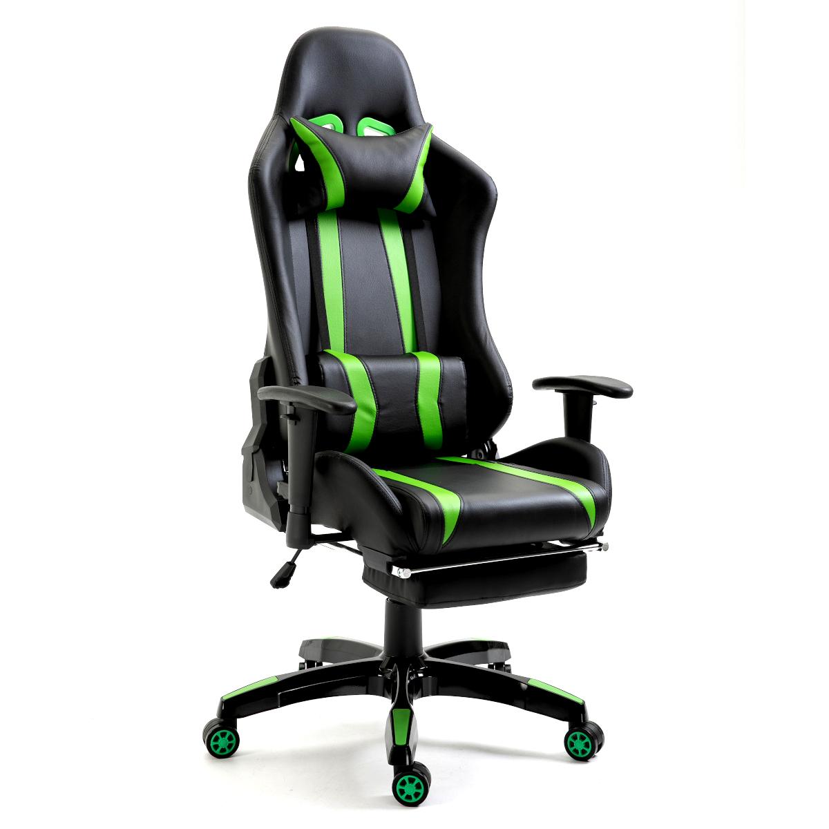 92208 SVITA Gaming Sessel mit Fußraste schwarz-grün