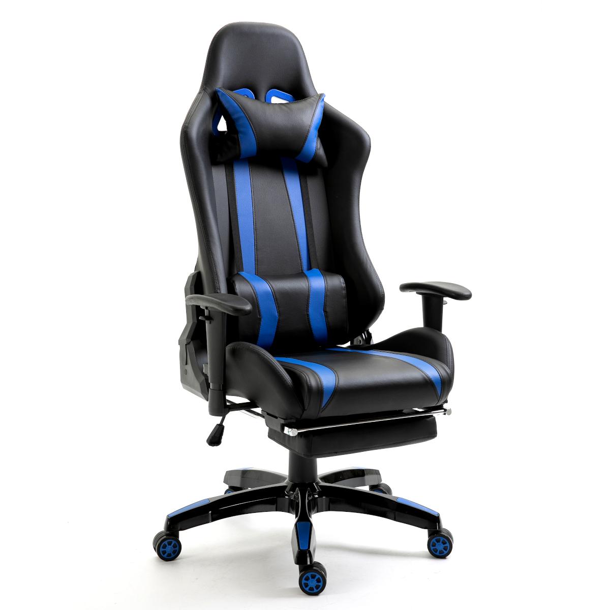 92209 SVITA Gaming Sessel mit Fußraste schwarz-blau