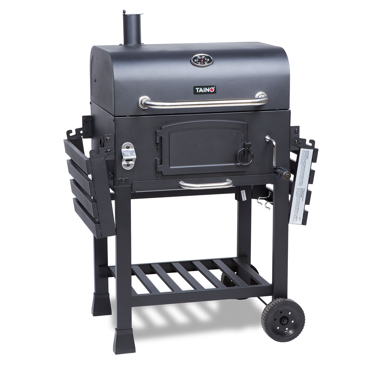 taino hero xl smoker bbq grillwagen holzkohle abdeckung standgrill grill kohle ebay. Black Bedroom Furniture Sets. Home Design Ideas