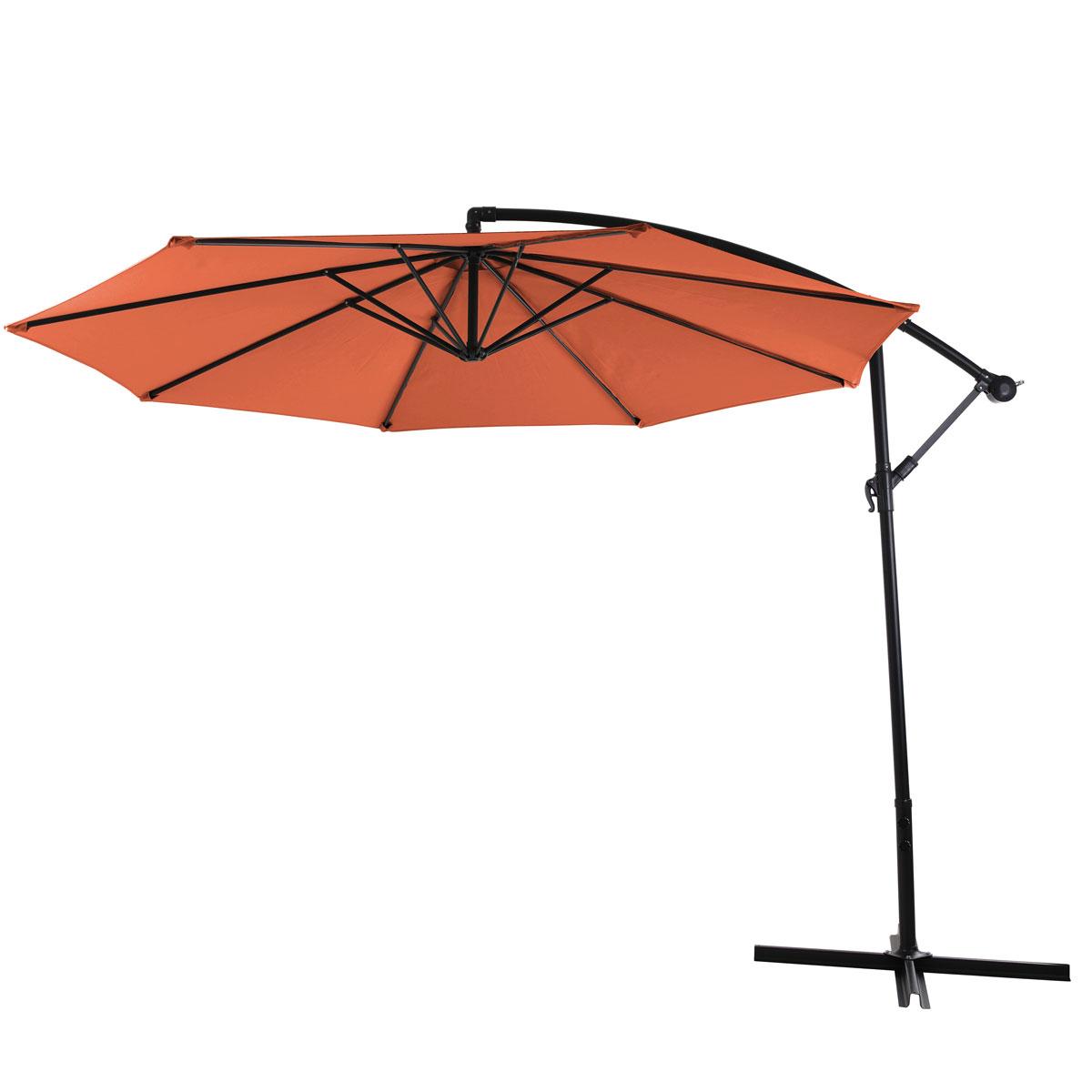 98521 SVITA Sonnenschirm 3m Ampelschirm mit Sonnenschutz UV50+ Matt Orange
