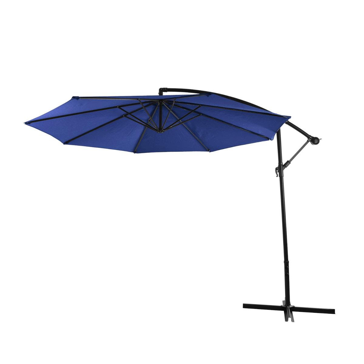 98522 SVITA Sonnenschirm 3m Ampelschirm mit Sonnenschutz UV50+ Matt Blau