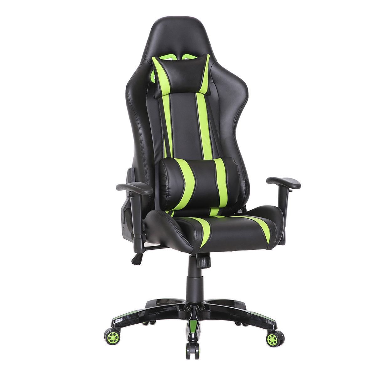 90208 Gaming Sessel Schwarz grün