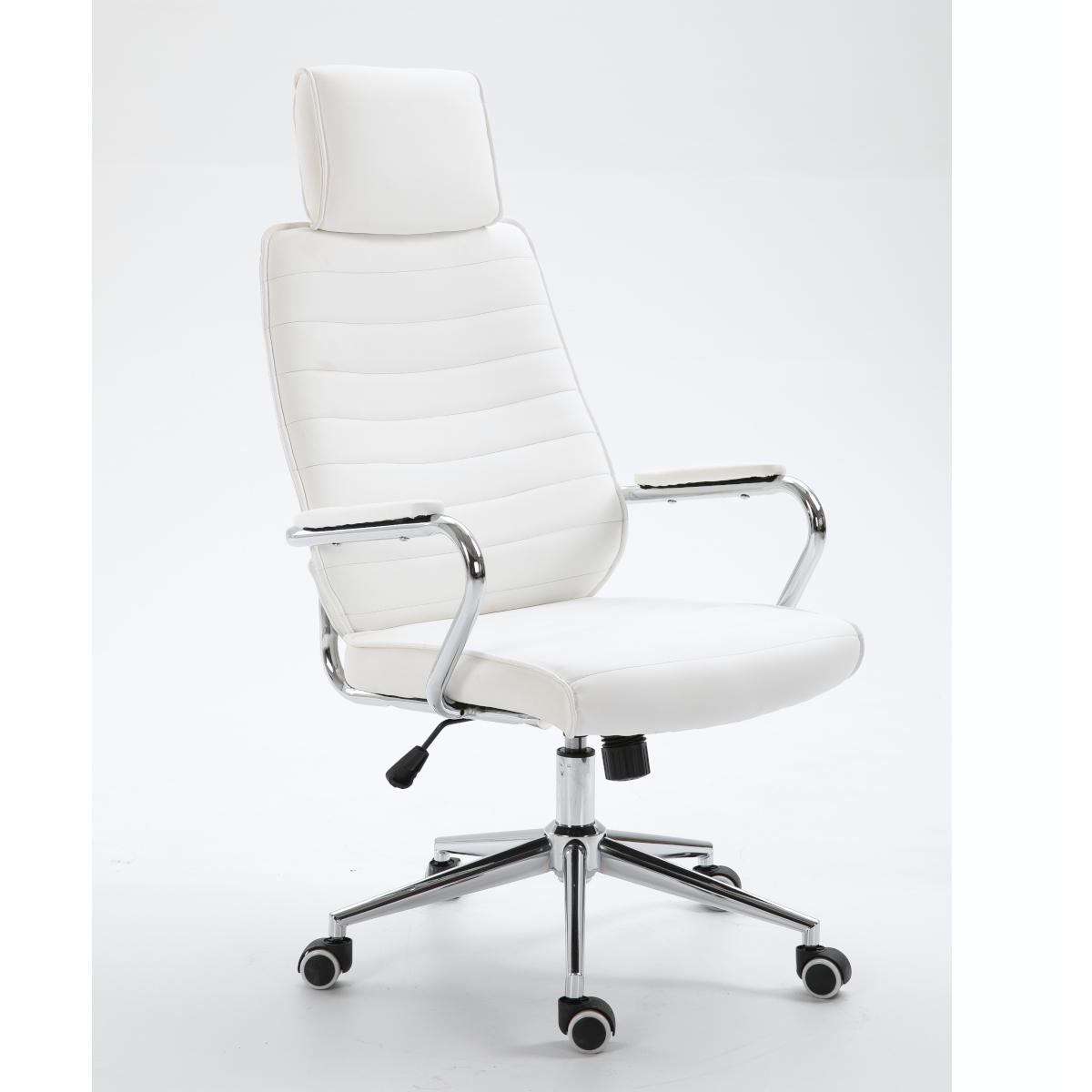 90451 SVITA Bürostuhl mit Kopfstütze weiß