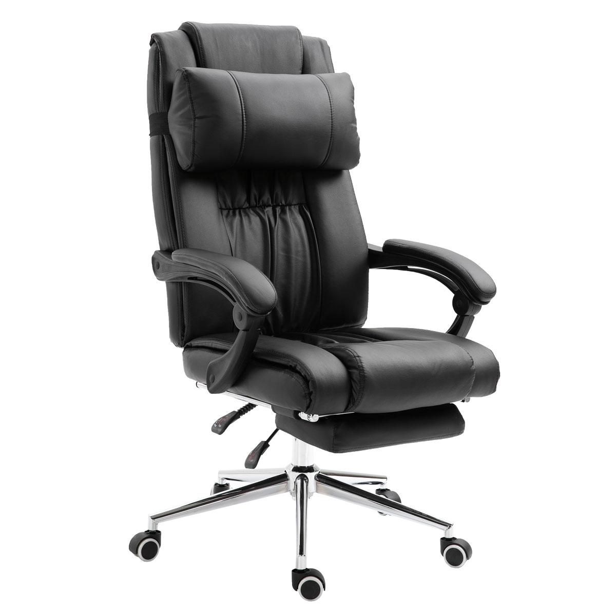 90468 SVITA Bürostuhl ausfahrbar schwarz
