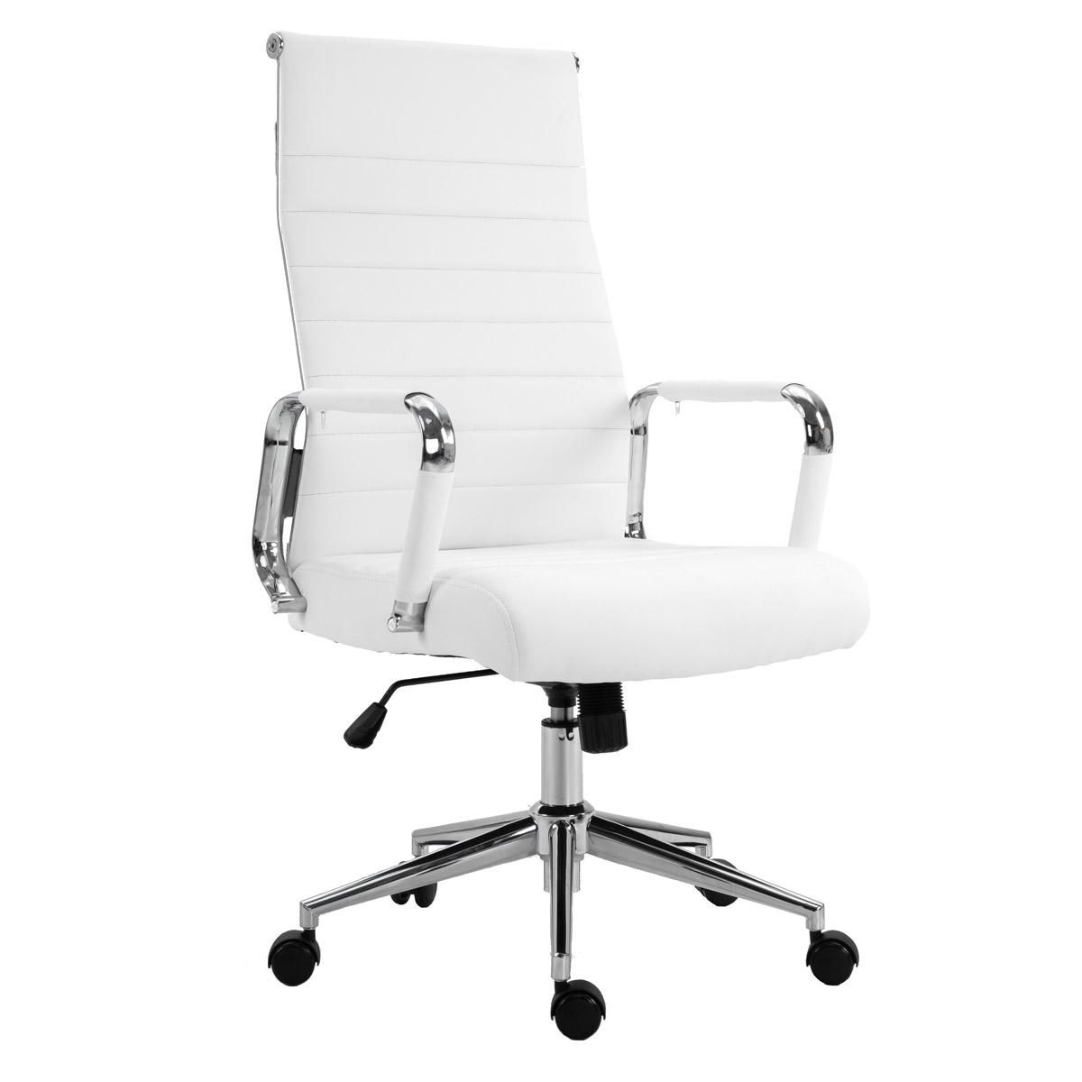 90516 SVITA Elegance Comfort Bürostuhl Kunstleder weiß