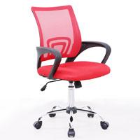 91201 SVITA Kinder Schreibtischstuhl Netzbezug rot