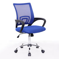 91202 SVITA CYDNEY Kinder Schreibtischstuhl Netzbezug blau
