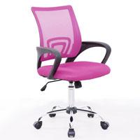 91206 SVITA Kinder Schreibtischstuhl Netzbezug pink