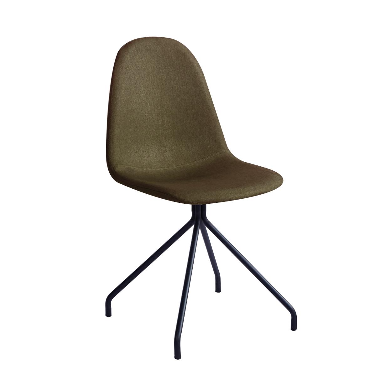 92151 SVITA 2er Set Esszimmerstühle Polyester Oliv