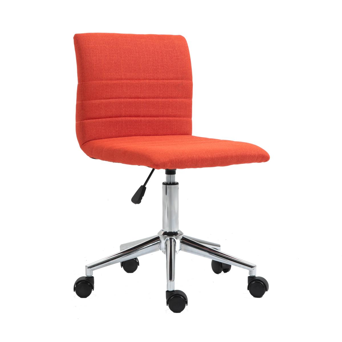 92211 SVITA LINUS Schreibtischstuhl Kinder Drehstuhl + Rollen Stoffüberzug Rot