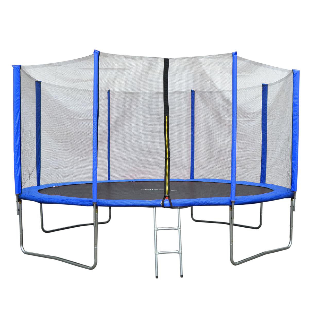 90510 JAWINIO Trampolin 427 cm Gartentrampolin Trampolin Kinder Komplettset Blau