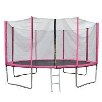 90506 JAWINIO Trampolin 366 cm Gartentrampolin Trampolin Kinder Komplettset Pink