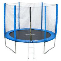 90501 JAWINIO Trampolin 244 cm Gartentrampolin Komplett-Set Blau