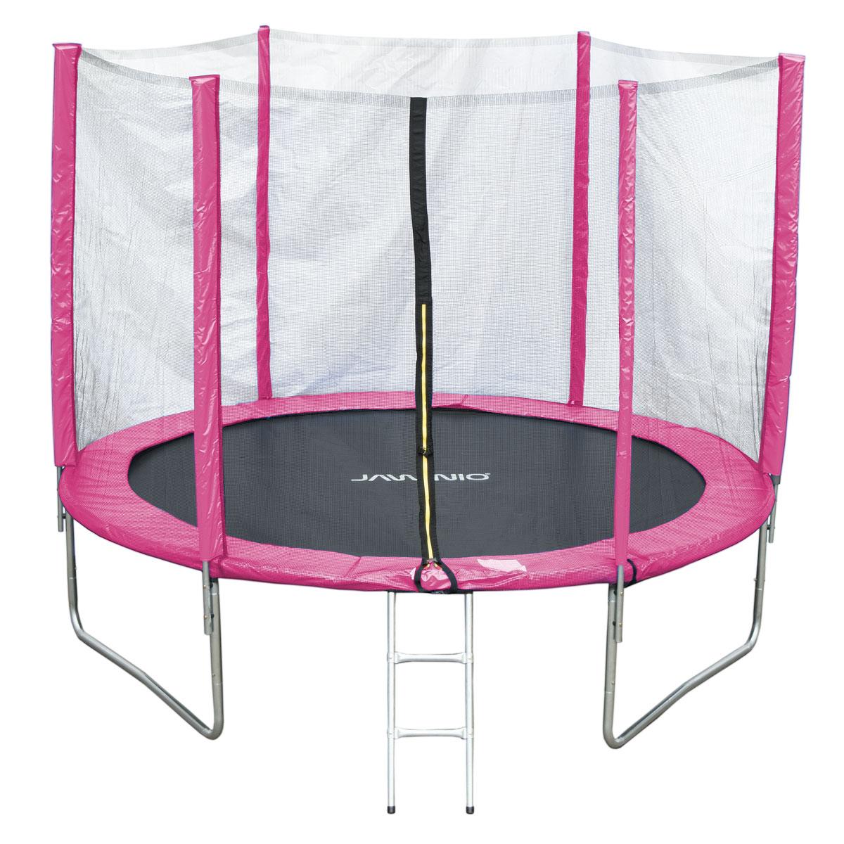 90503 JAWINIO Trampolin 305 cm Gartentrampolin Trampolin Kinder Komplettset Pink