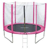 90500 JAWINIO Trampolin 244 cm Gartentrampolin Komplett-Set Pink