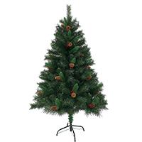 92024 SVITA Weihnachtsbaum künstlich mit Tannenzapfen und roten Beeren 150 cm